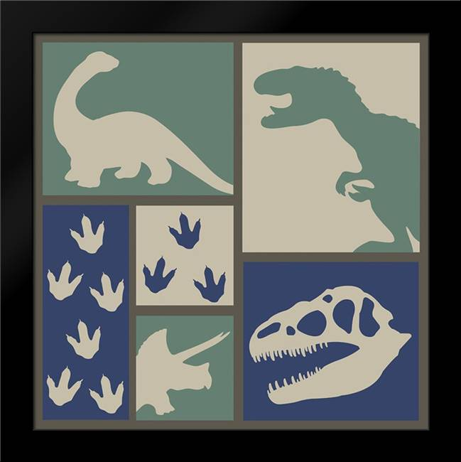 Dino Collage: Framed Art Print by ND Art and Design