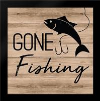Gone Fishing: Framed Art Print by ND Art