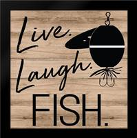 Live Laugh Fish: Framed Art Print by ND Art