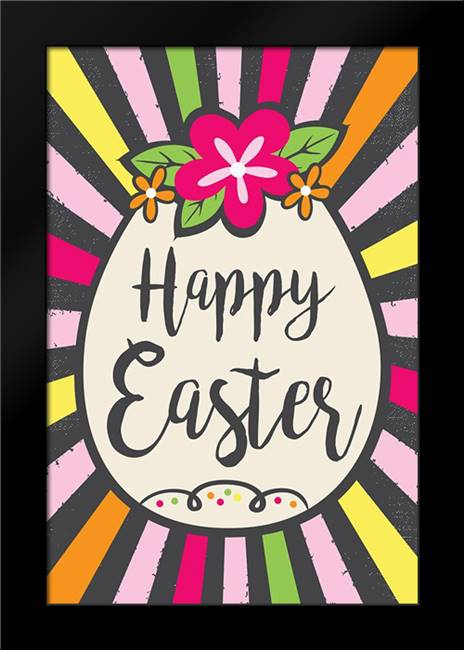 Happy Easter: Framed Art Print by ND Art