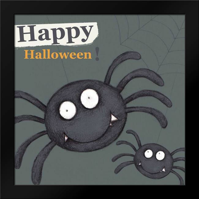 Happy Halloween Spider: Framed Art Print by P.S. Art Studios