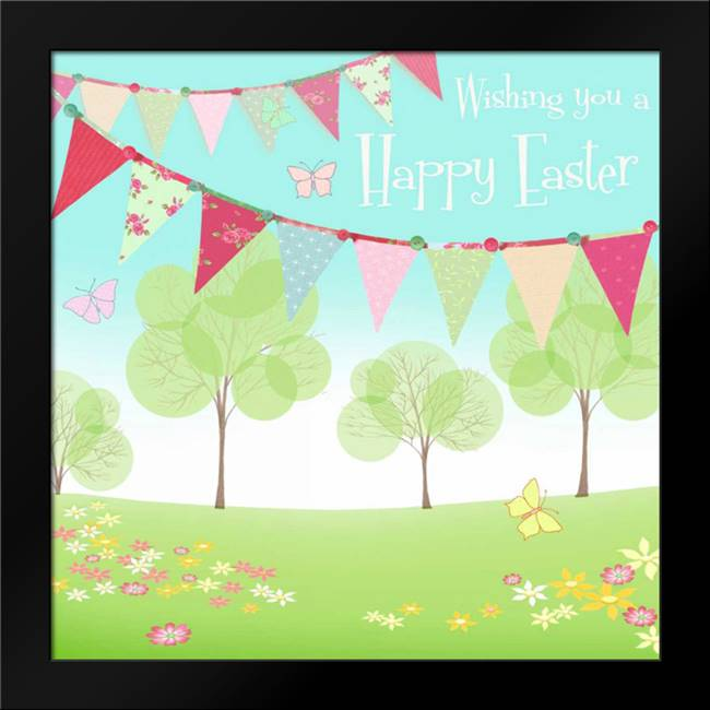 Happy Easter Flags: Framed Art Print by P.S. Art Studios