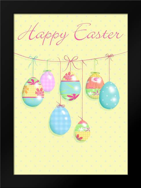 Happy Easter: Framed Art Print by P.S. Art Studios