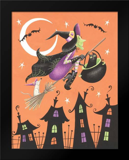 Halloween Witch: Framed Art Print by P.S. Art Studios