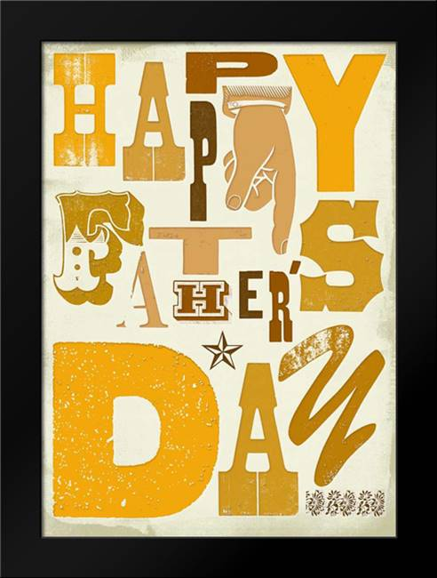 Happy Fathers Day: Framed Art Print by P.S. Art Studios