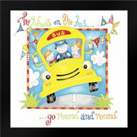 The Wheels on the Bus: Framed Art Print by P.S. Art Studios