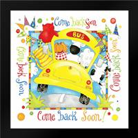 Come Back Soon: Framed Art Print by P.S. Art Studios