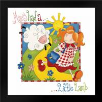 Mary Had a Little Lamb: Framed Art Print by P.S. Art Studios