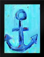 Boys Nautical Anchor: Framed Art Print by Wingard, Pamela J.