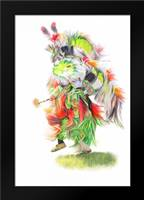 Native Pow Wow Dance: Framed Art Print by Murdock, Ramona