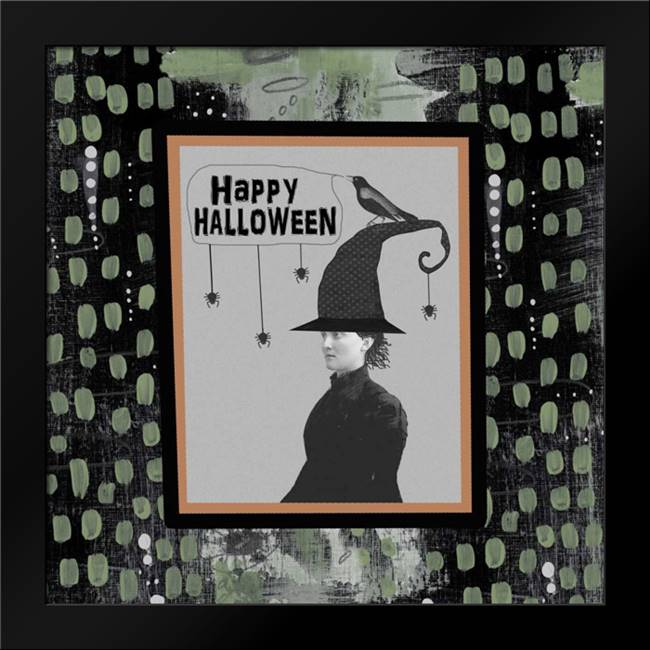 Halloween Witch and Crow: Framed Art Print by Ogren, Sarah