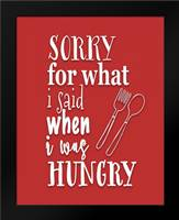 When I Was Hungry: Framed Art Print by Moss, Tara