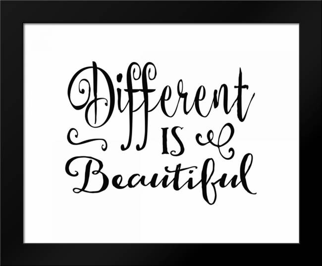 Different is Beautiful: Framed Art Print by Moss, Tara