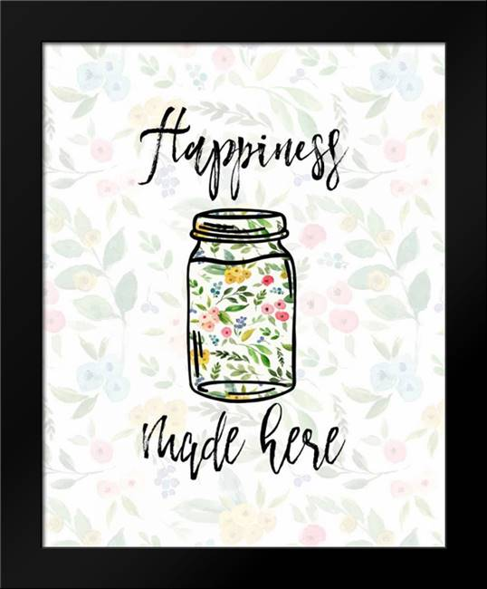 Happiness Made Here: Framed Art Print by Moss, Tara