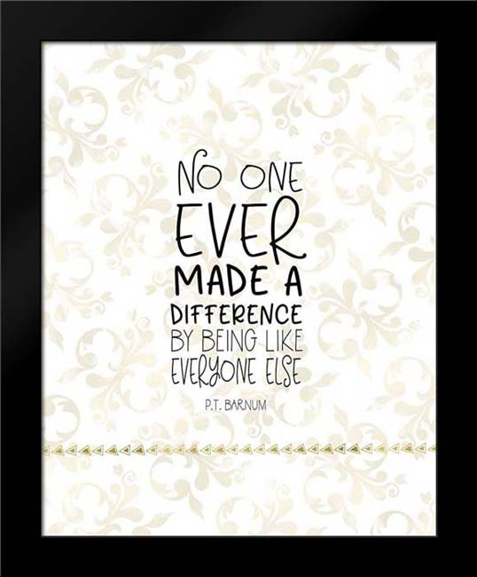 Difference Quote: Framed Art Print by Moss, Tara