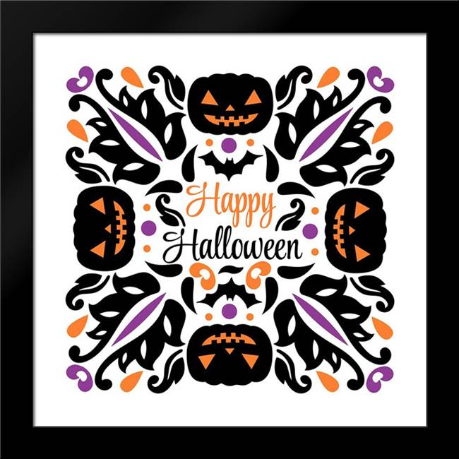 Happy Halloween: Framed Art Print by Robinson, Tamara