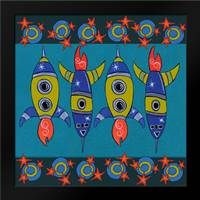 Space Rockets: Framed Art Print by Welsh, Shanni