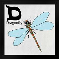 D - Dragonfly: Framed Art Print by Welsh, Shanni