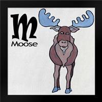 M - Moose: Framed Art Print by Welsh, Shanni