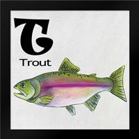 T - Trout: Framed Art Print by Welsh, Shanni
