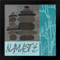 Namaste - Blue: Framed Art Print by Welsh, Shanni