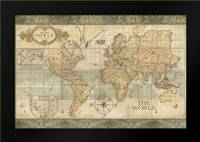 Classic World Map: Framed Art Print by Coulter, Cynthia