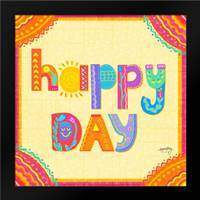 Happy Day Trio I: Framed Art Print by Noonday Design