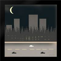 Nightime in the City I: Framed Art Print by Kushnir, Tammy