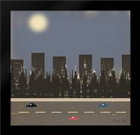 Nightime in the City II: Framed Art Print by Kushnir, Tammy
