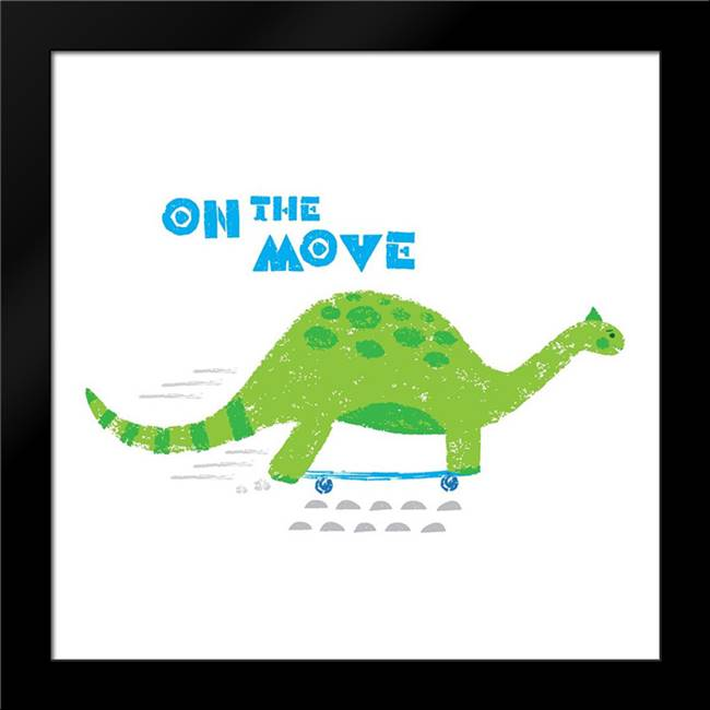 Dinos on the Move I: Framed Art Print by Noonday Design