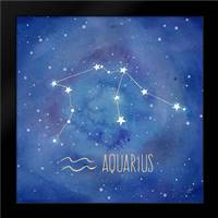 Star Sign Aquarius: Framed Art Print by Coulter, Cynthia