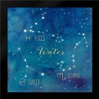Star Sign Water: Framed Art Print by Coulter, Cynthia