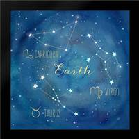 Star Sign Earth: Framed Art Print by Coulter, Cynthia