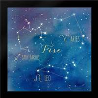 Star Sign Fire: Framed Art Print by Coulter, Cynthia