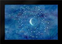 Star Sign with Moon Landscape: Framed Art Print by Coulter, Cynthia