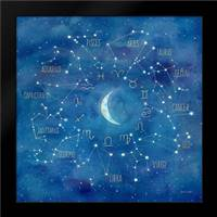 Star Sign with Moon Square: Framed Art Print by Coulter, Cynthia