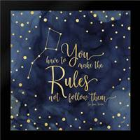 Oh My Stars I Rules: Framed Art Print by Reed, Tara