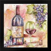 Watercolor Wine I: Framed Art Print by Tre Sorelle Studios