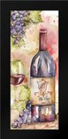 Watercolor Wine Panel I: Framed Art Print by Tre Sorelle Studios