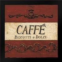 Caffe Biscotti Plaque: Framed Art Print by Fisk, Arnie