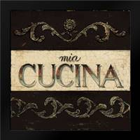 Mia Cucina Plaque: Framed Art Print by Fisk, Arnie
