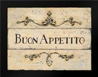 Buon Appetito Plaque: Framed Art Print by Fisk, Arnie