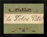 Dolce Vita Plaque: Framed Art Print by Fisk, Arnie