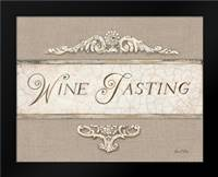 Linen Wine Tasting: Framed Art Print by Fisk, Arnie