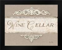 Linen Wine Cellar: Framed Art Print by Fisk, Arnie