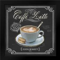 Coffee House Caffe Latte: Framed Art Print by Barrett, Chad