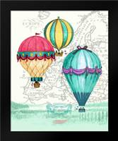 Vintage Air Balloon Adventure: Framed Art Print by Smith, Hope