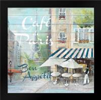 Cafe De Paris Bon Appetit: Framed Art Print by Gottschlag, Jurgen