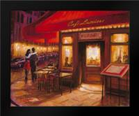 Moonlight Cafe: Framed Art Print by Amber, Zeph
