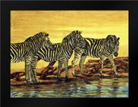 Sunset stripes: Framed Art Print by Blair, David